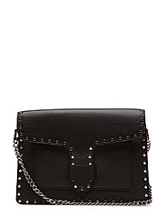 Midnighter Med Crossbody W/Chain - 001 BLACK /  SILVER