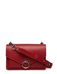 Jean Md Shoulder Bag - SCARLET SILVER