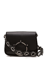 Ring Shoulder Bag - BLACK / ANTIQUE SILVER