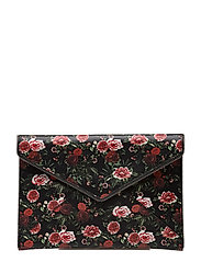 Leo Clutch - ROSE FLORAL / ANTIQUE SILVER