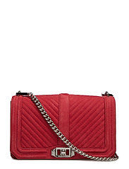 Chevron Quilted Love - SCARLET / SILVER