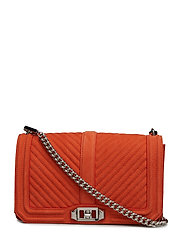 Chevron Quilted Love - RUST / SILVER