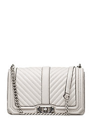 Chevron Quilted Love Crossbody - 269 PUTTY / PALLADIUM