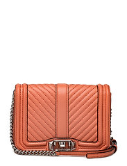 Chevron Quilted Small Love Crossbody - 684 PALE CORAL / PALLADIUM