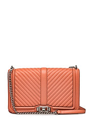 Chevron Quilted Slim Love Crossbody - 684 PALE CORAL / PALLADIUM