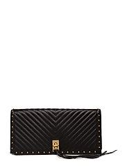 Becky Clutch - 001 BLACK / BRASS GOLD