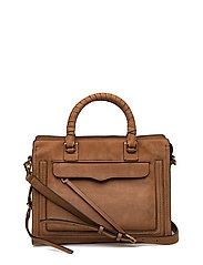 Bree Md Top Zip Satchel - 230 ALMOND / BRASS GOLD