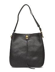 Darren Shoulder Bag -U1 - BLACK / ANTIQUE BRASS