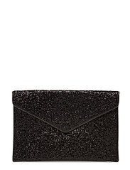 Glitter Leo Clutch - BLACK MULTI/BLACK