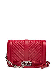 Small Love Crossbody - SCARLET / SILVER
