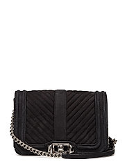 Small Love Crossbody - BLACK / SILVER