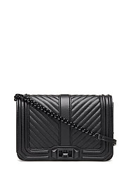 Chevron Quilted Love - BLACK / BLACK