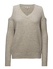 Paige Vneck Sweater  Sweater - 255 IVORY MULTI