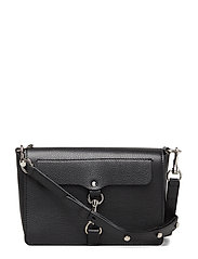 Mab Flap Crossbody Pebble - 003 BLACK