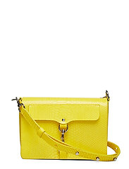 Mab Flap Crossbody Python - YELLOW SNAKE-NICKEL