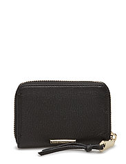 Mini Regan Zip Wallet - BLACK/LIGHT GOLD