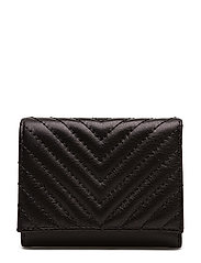 Trifold Love Wallet - BLACK / GUNMETAL