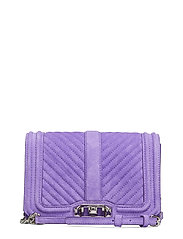 Small Love Crossbody Fluo Sued - PURPLE-NICKEL