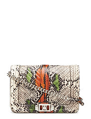 Graphic Embossed Snake - PITONE RUST / SILVER