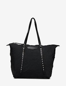 BOWIE NYLON TOTE - casual shoppers - black