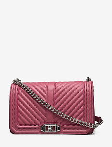 CHEVRON QUILTED LOVE CROSSBODY - fig