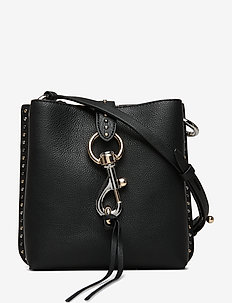 MEGAN MINI FEED BAG W/STUDS - BLACK