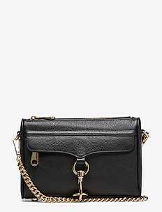 Mini Mac Pebble  With The Strap In Leather - 003 BLACK