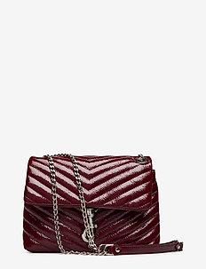 Edie Crossbody Naplack - schultertaschen - 036 pinot noir