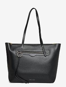 New Soft Zip Tote Pebble - 003 BLACK