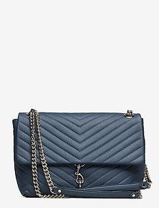 Edie Flap Shoulder Bag Pebble - TWILIGHT-NICKEL