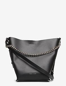Feedbag W Chain Handle Smooth - BLACK-NICKEL
