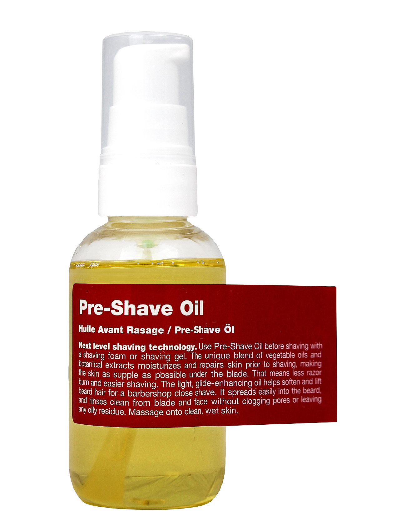 Image of Pre-Shave Oil Beauty MEN Shaving Products Beard Oil Nude Recipe For Men (3412357285)