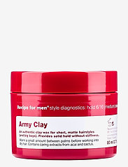 Recipe for Men - Army Clay Wax - wax - clear - 0