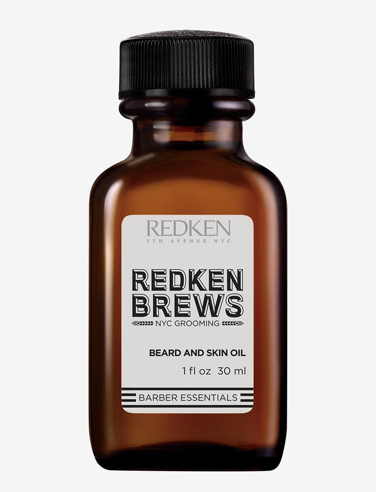 Redken - Brews Beard and Skin Oil - skægolie - clear - 0