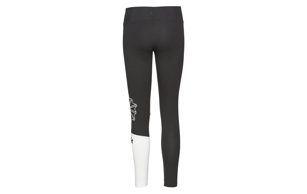 95 Logo Classics Ac Legging 5 Coton Reebok Elastane Black SxwaBWX