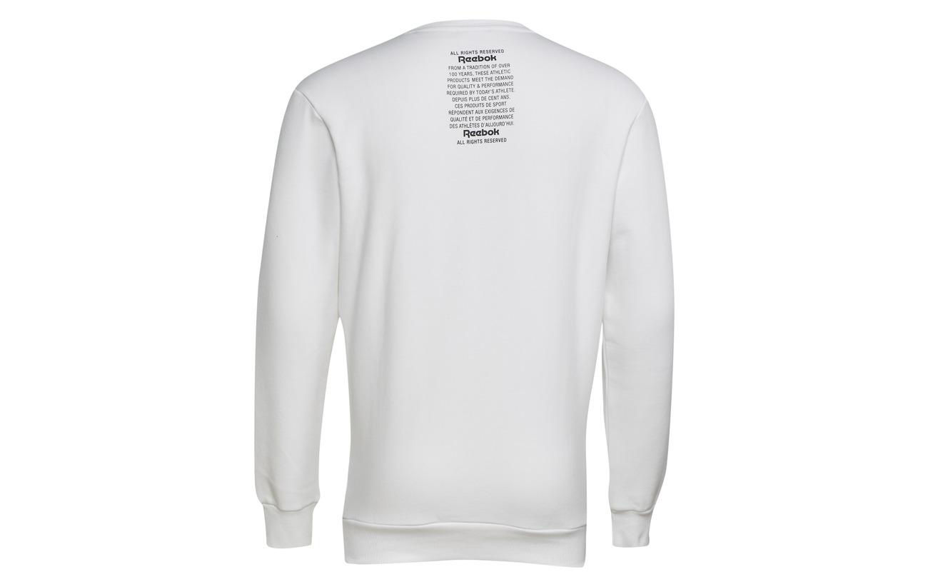 Polyester Reebok Coton Unisex 80 20 Fleece White Gp Bio Crew Classics H0SxrwvHq