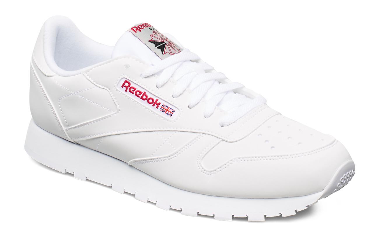 Reebok Classics CL LEATHER MU - WHITE/GREY/RED/BLACK