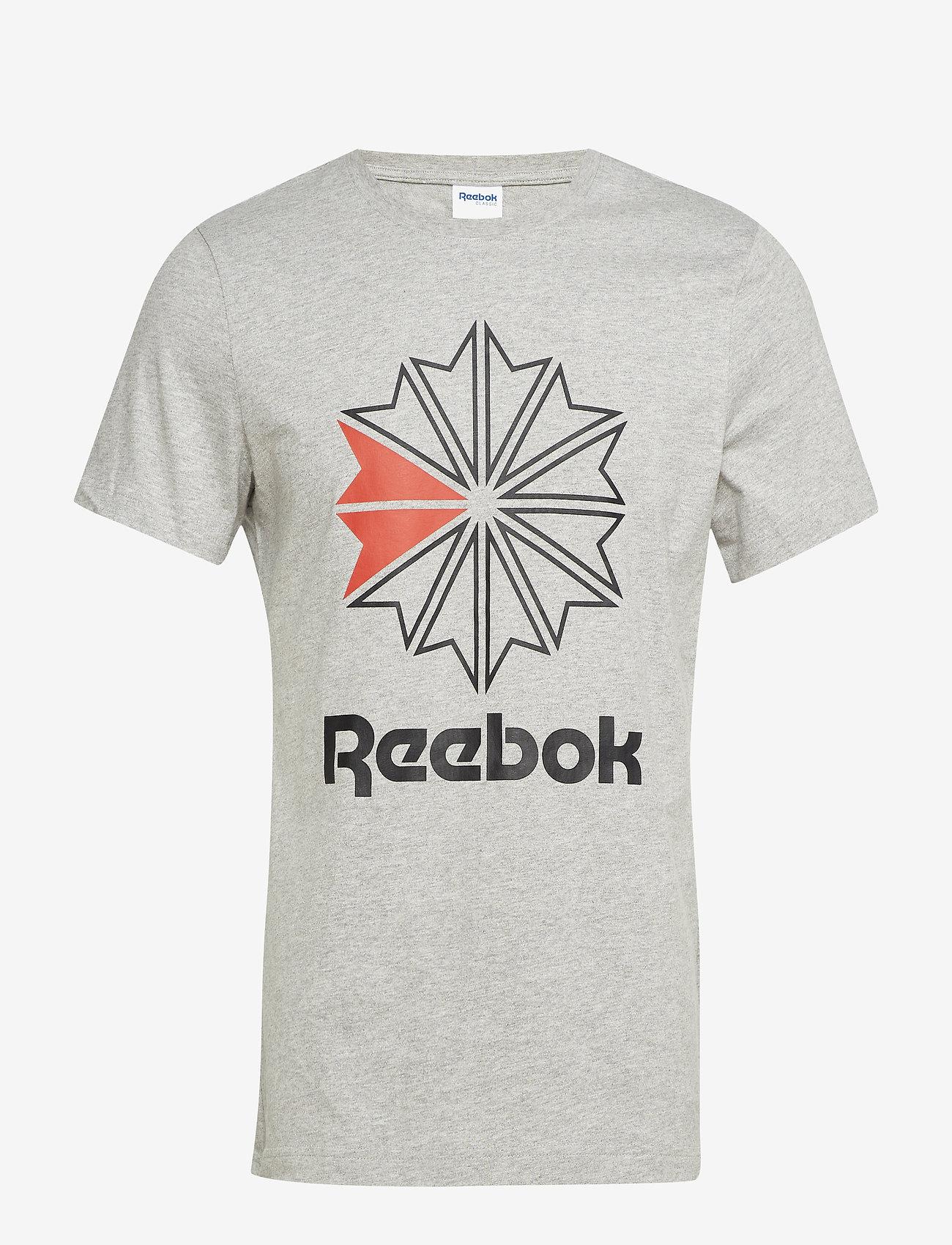 Reebok Classics - F GR TEE - sports tops - mgreyh/black