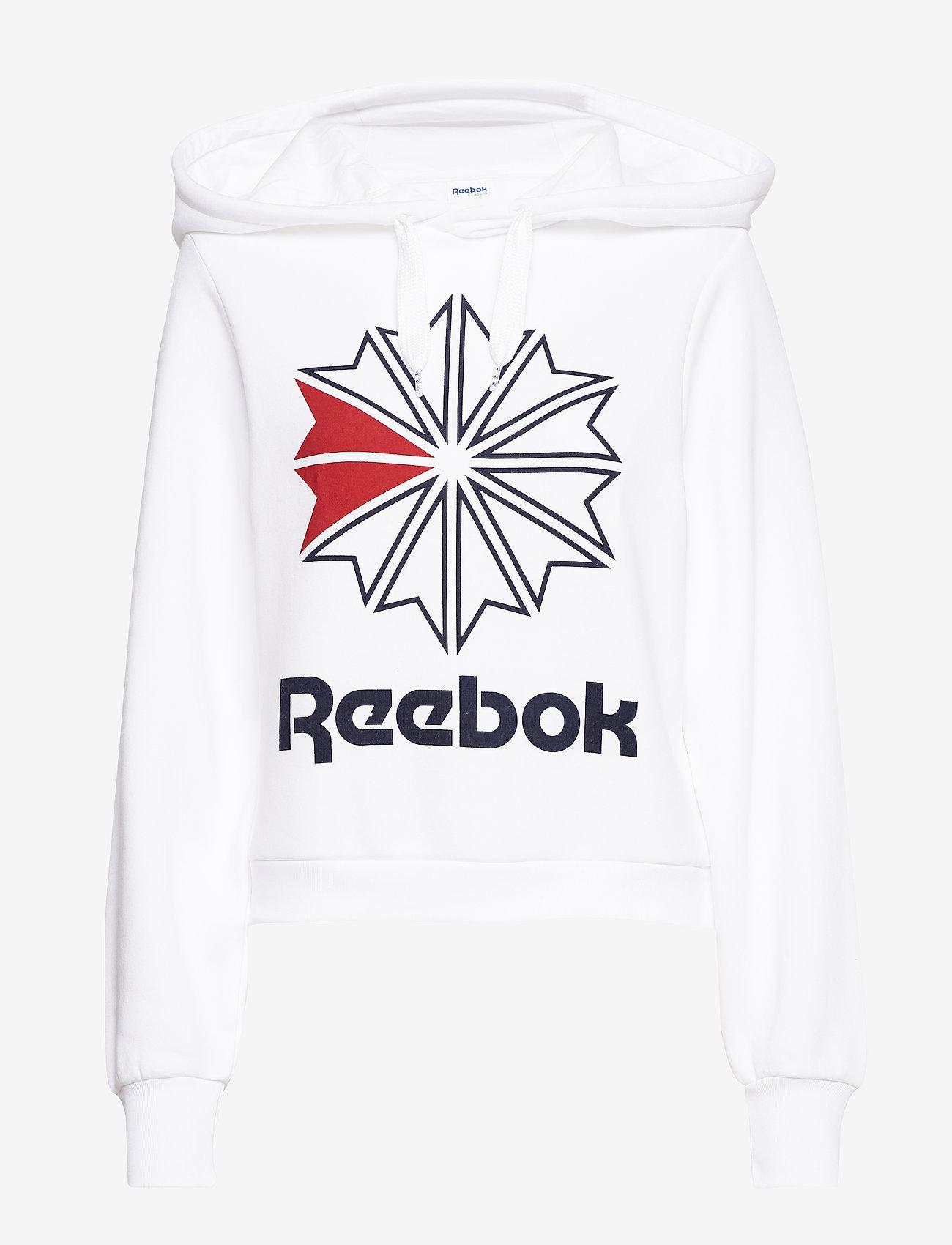 Reebok Classics - CL FL BIG LOGO HOODIE - hupparit - white - 0