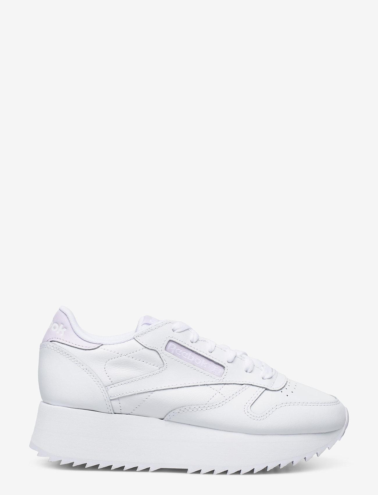 Reebok Classics - Classic Leather Double W - sneakers - white/lumlil/white - 1