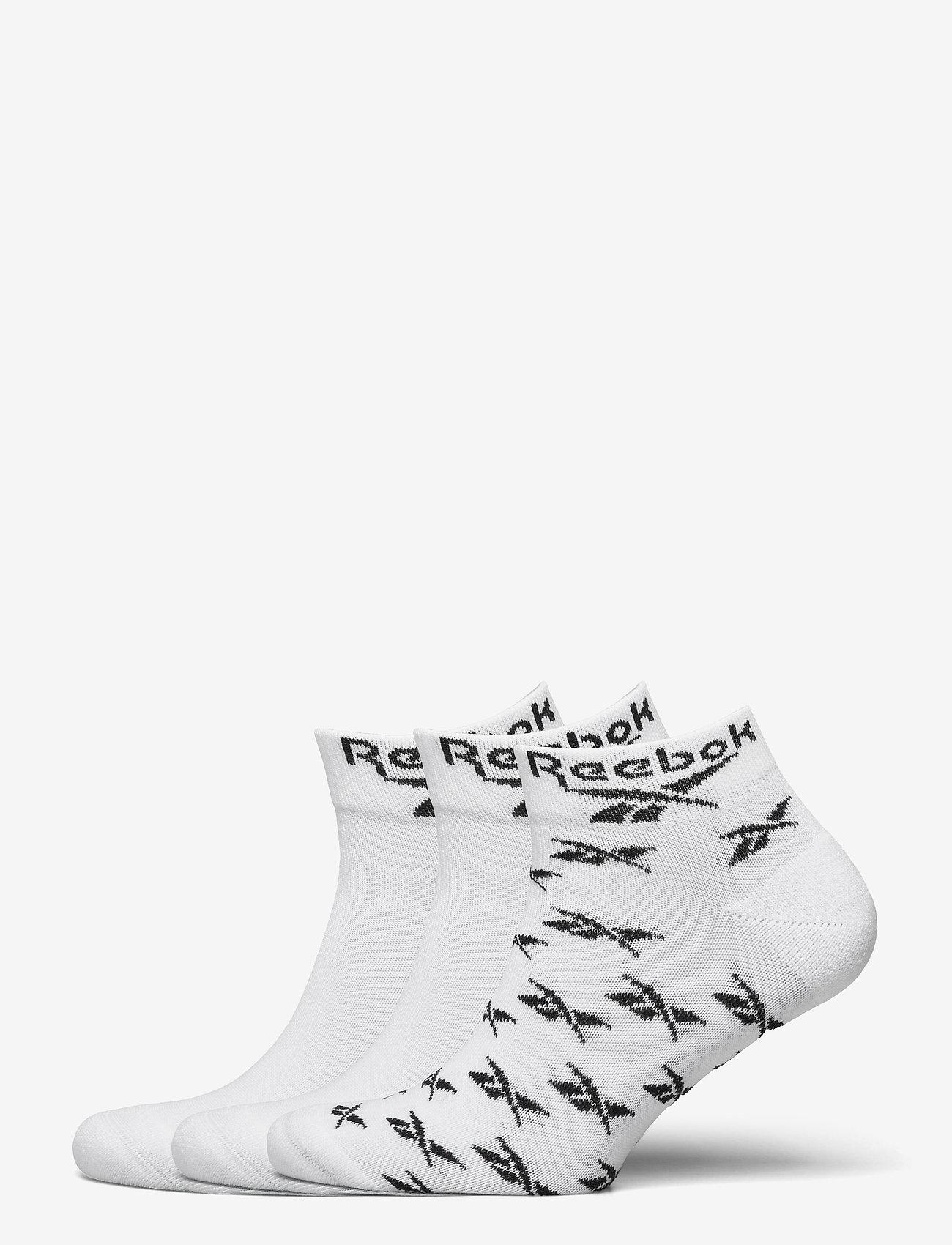 Reebok Classics - CL FO Ankle Sock 3P - kousen - white - 0
