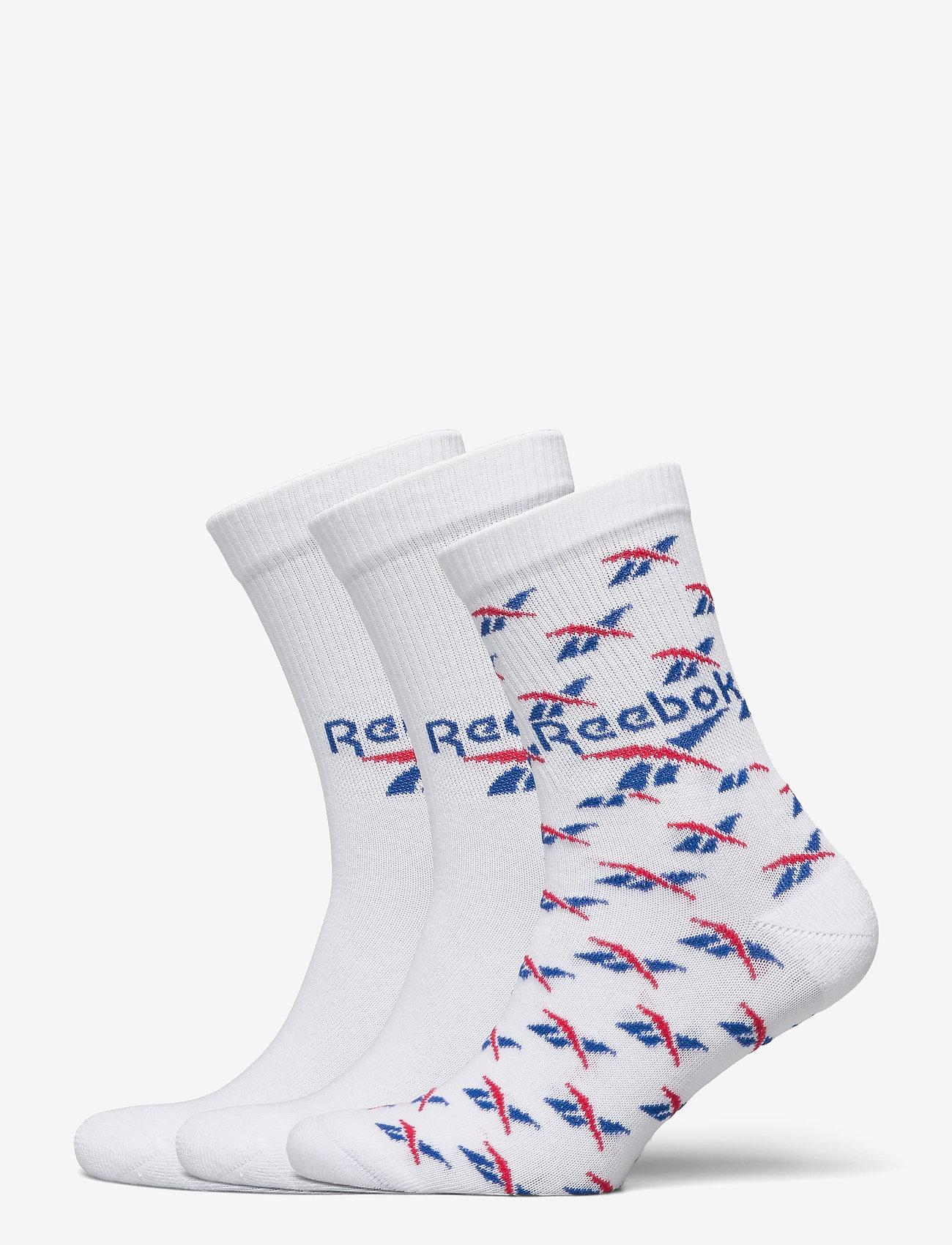 Reebok Classics - CL FO Crew Sock 3P - kousen - white/vecblu/vecred - 0