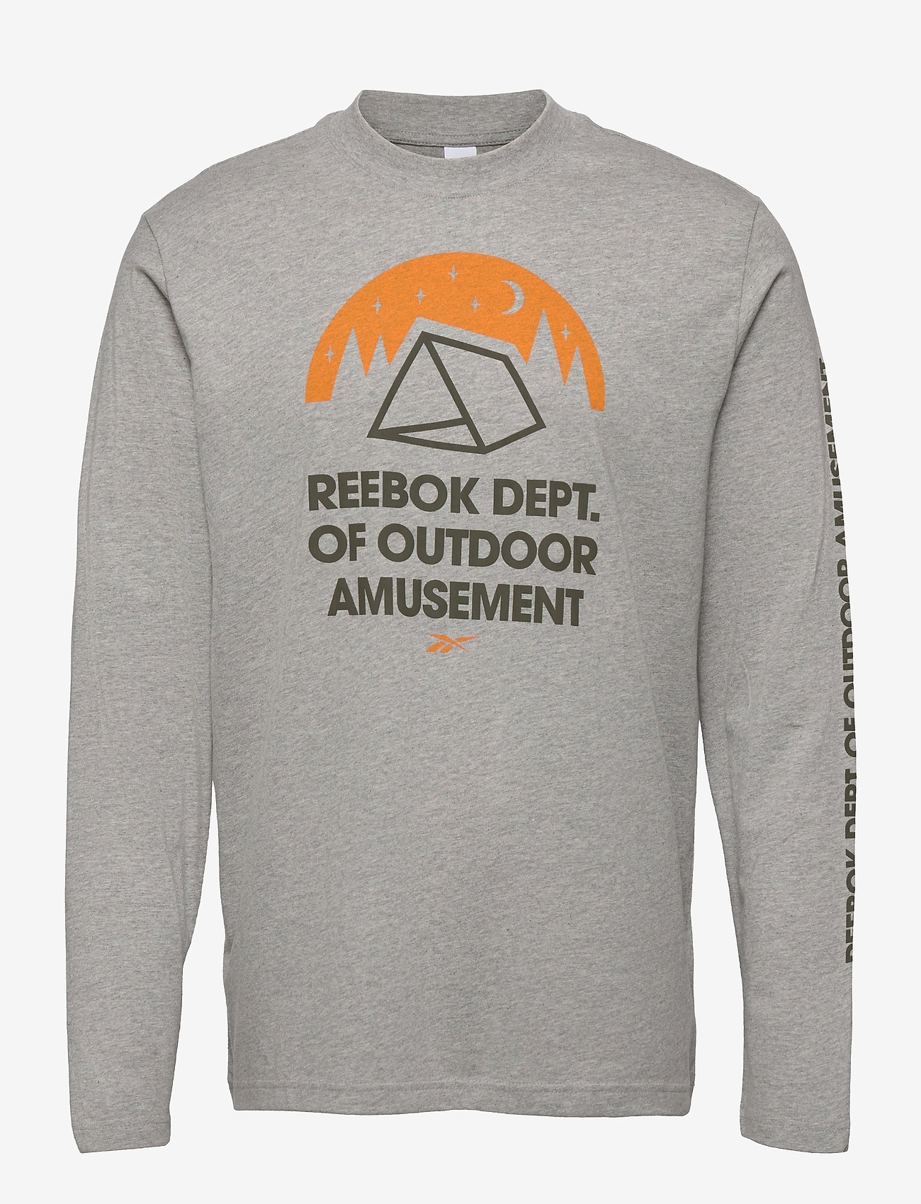 Reebok Classics - CL CAMPING GRAPHIC LS TEE - top met lange mouwen - mgreyh - 1