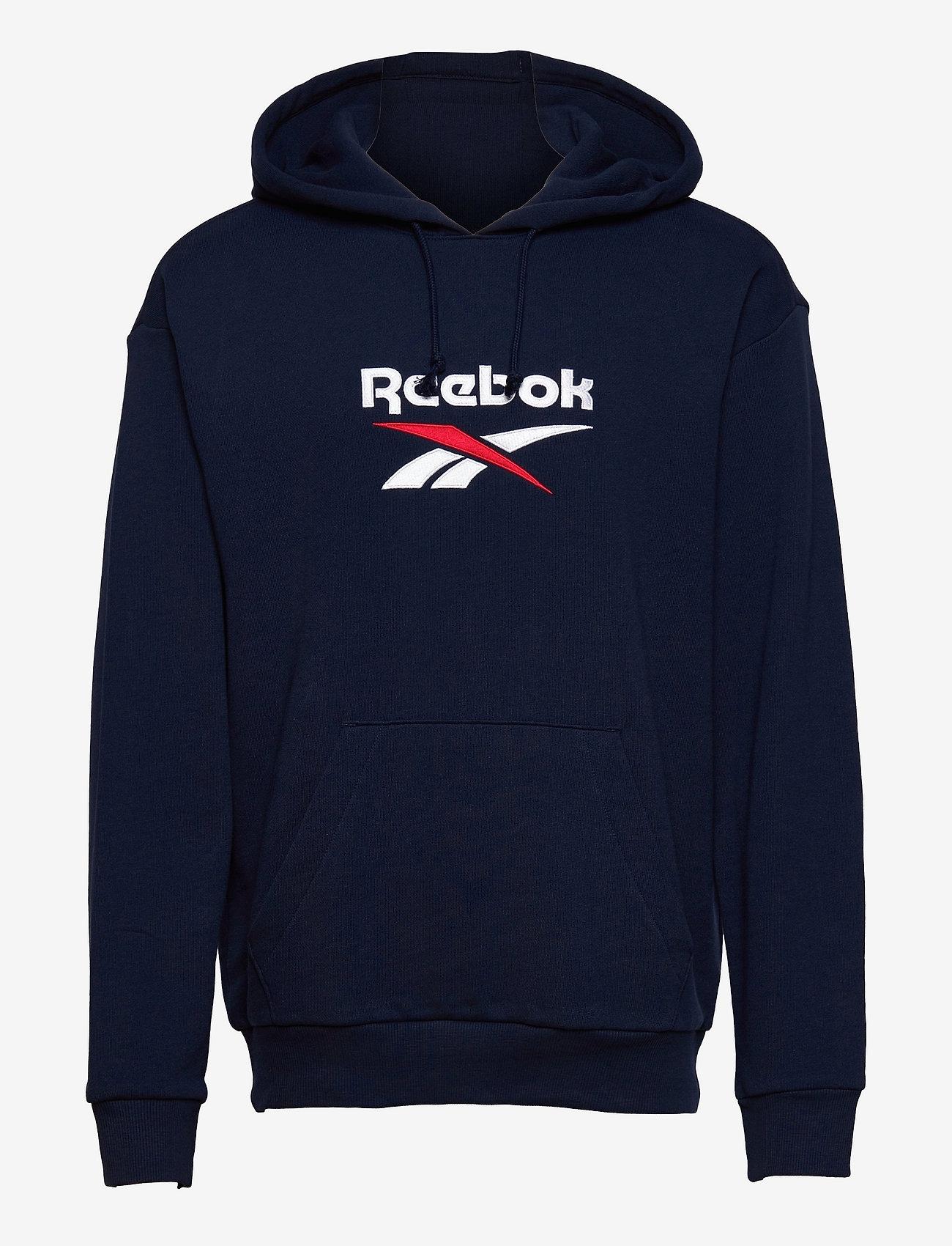 Reebok Classics - CL F VECTOR HOODIE - hoodies - vecnav/white/vecred - 1