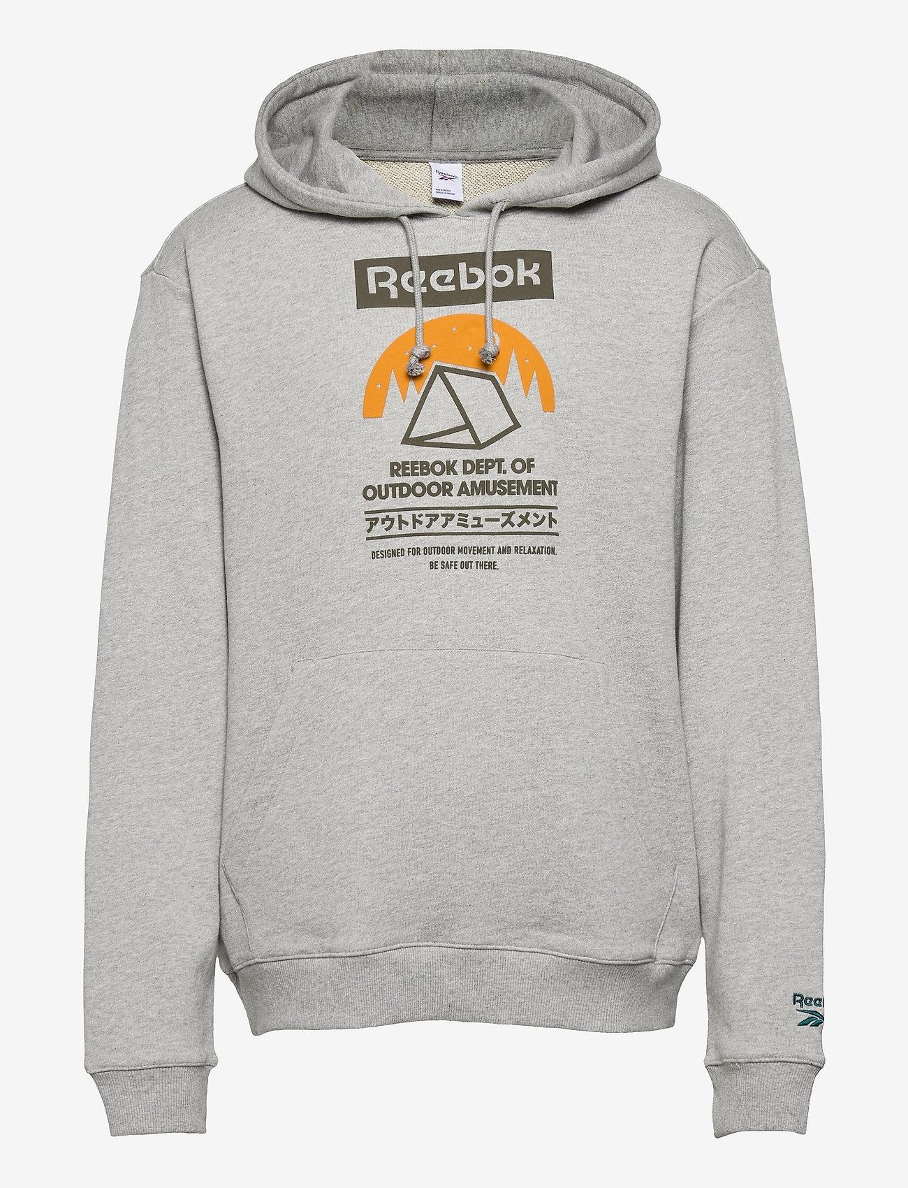 Reebok Classics - CL CAMPING GRAPHIC HOODIE - hoodies - mgreyh - 1