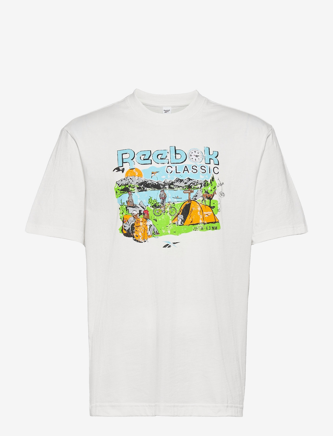 Reebok Classics - CL INTL TEE WEST - t-shirts - chalk - 1