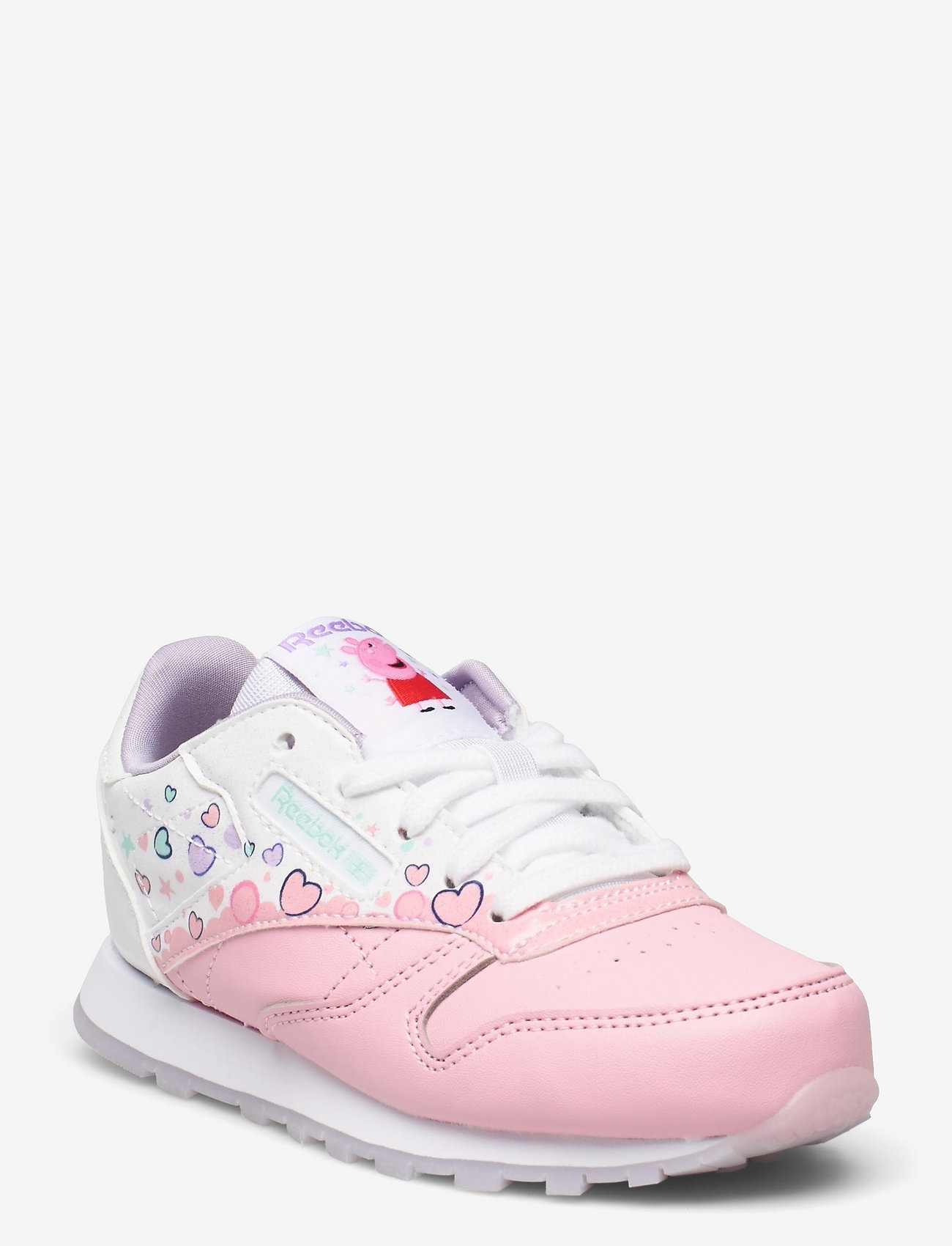 Reebok Classics - CL LEATHER - laag sneakers - ltpink/ftwwht/purglo - 0