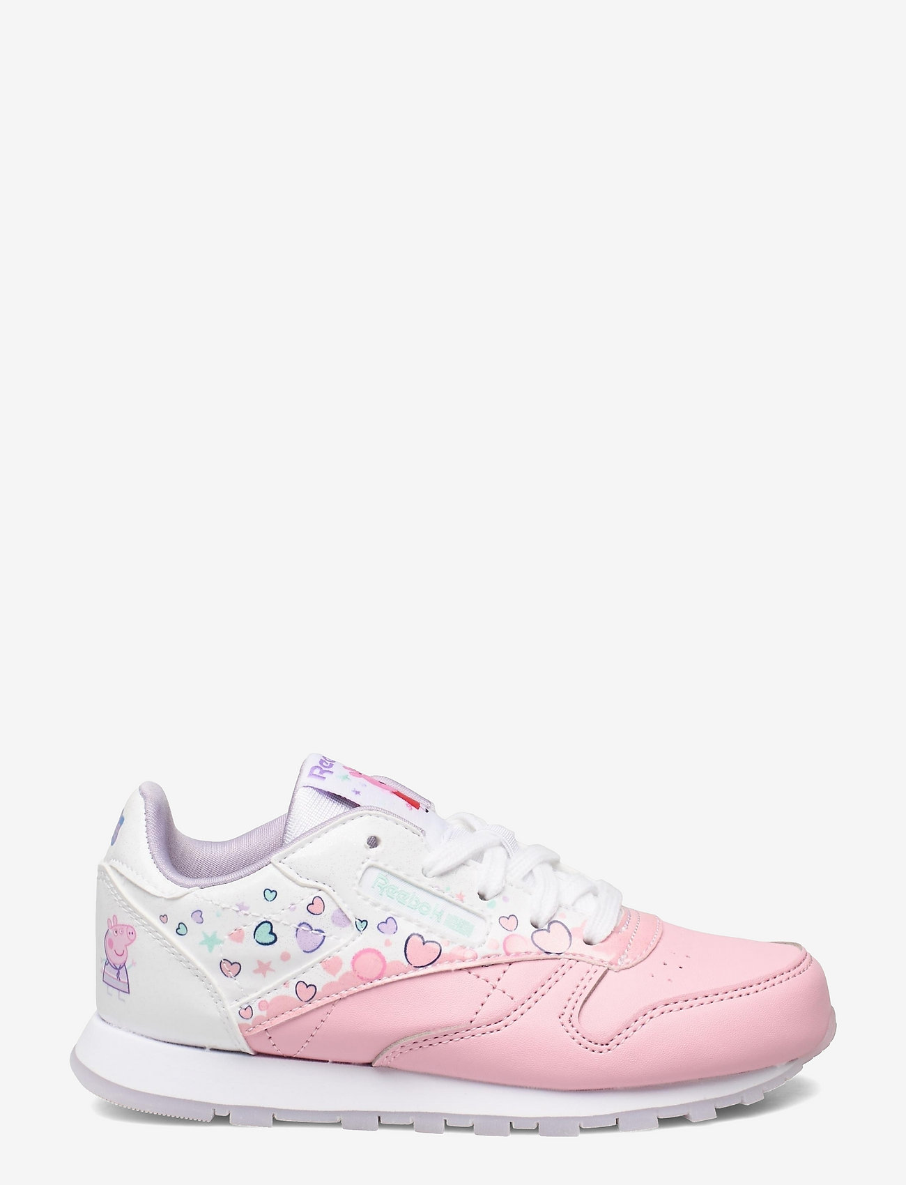 Reebok Classics - CL LEATHER - laag sneakers - ltpink/ftwwht/purglo - 1