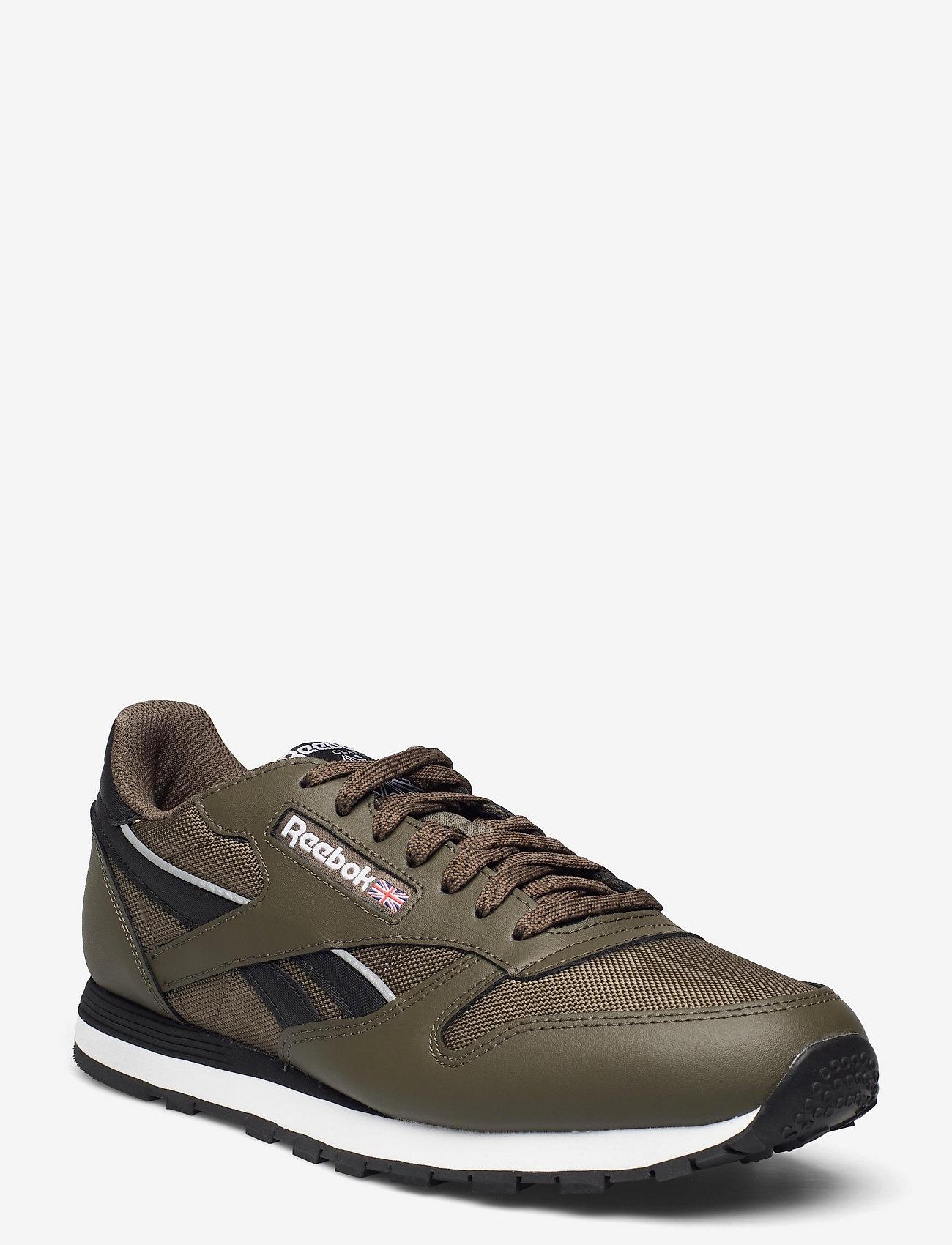 Reebok Classics - CL LTHR - laag sneakers - armygr/cblack/ftwwht - 0