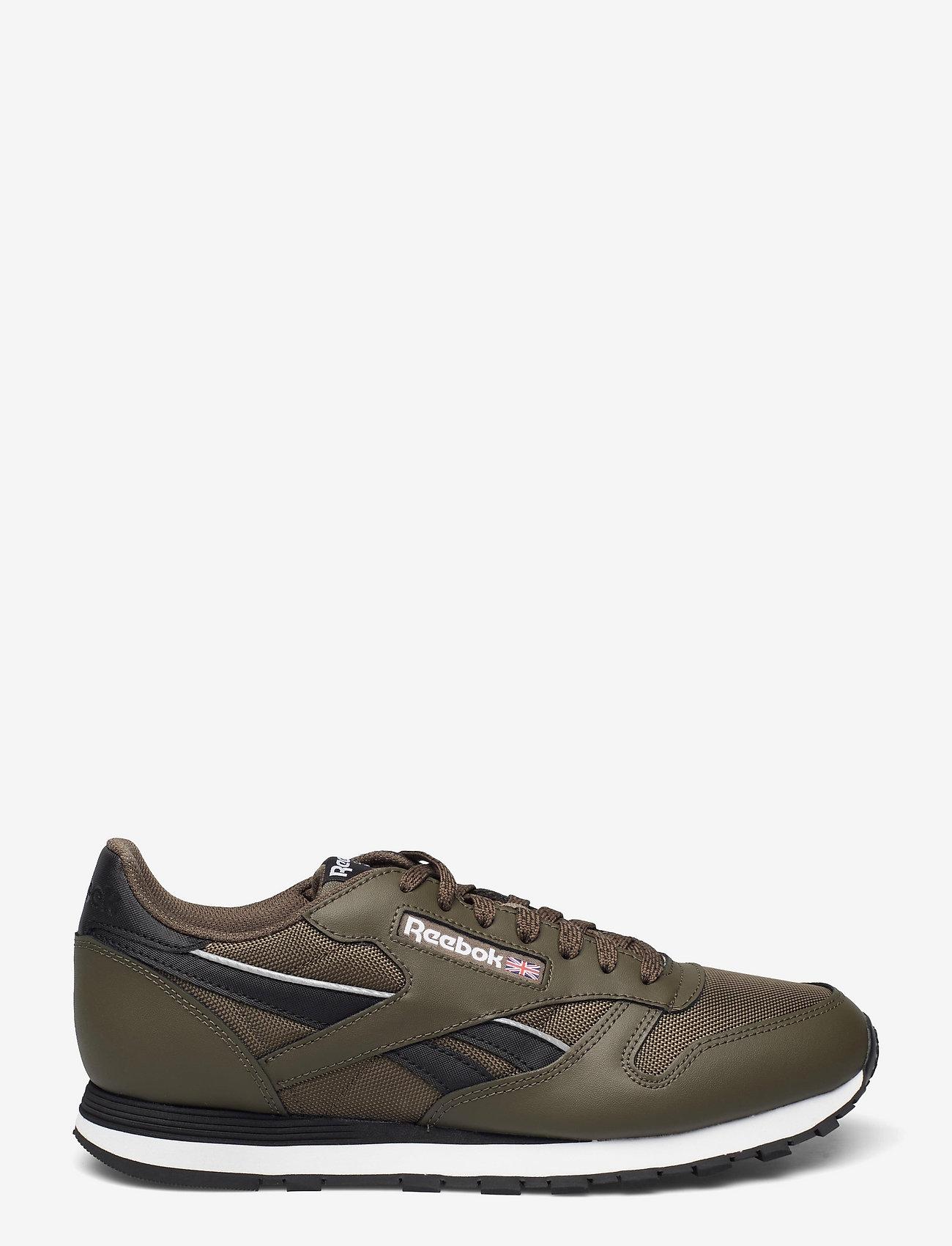 Reebok Classics - CL LTHR - laag sneakers - armygr/cblack/ftwwht - 1